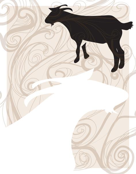 Society6 Goat poster